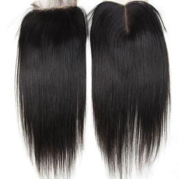Wholesale Hair Items - One Bundle 8-20 INCH Straight Closure Peruvian Malaysian Indian Malaysian Mongolian Virgin Human Hair Unprocessed Natural Color Cheap Items