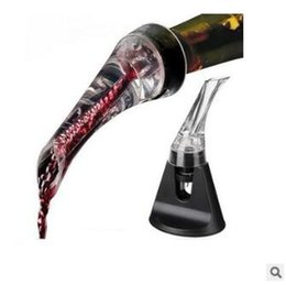 Wholesale Glass Wine Decanters - Hot White Red Wine Aerator Pour Spout Bottle Stopper Wine Decanter Pourer Aerating Chick Wine Pourer CCA7151 100pcs