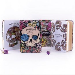 Wholesale Wholesale Book Binding Supplies - Wholesale- Luxurious Tinplate cover gift notebook Devil and angel note Book Hardcocver diary Office School Supplies GT095