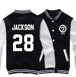 Wholesale Ladies Hoodie Fleece Jackets - Wholesale- 2015 NEW GOT7 Jackson JB Sweatshirt Fleece Thick Autumn Long Sleeve Women Ladies Hoodies Overcoat Female Baseball Jacket
