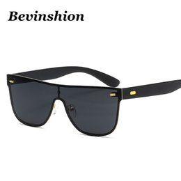 Wholesale Driver Hd - One Piece Square Sunglasses Men Rivet Travel Sun Glasses Male HD Goggles Driver Red Mirror Shades Fishing Oversize Big Frame Sport Cycling
