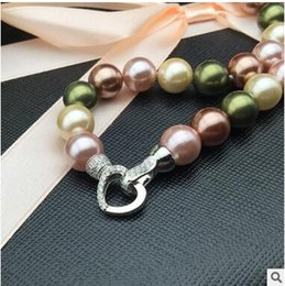 Wholesale Nanyang Necklace - Sea shell 10mm Nanyang shellfish necklace female natural mother of pearl+box
