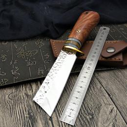 2019 couteaux de camp forgés à la main Forge nordique manuel tactique couteau droit 9Cr18Mov 60HRC camping chasse sac de survie outil outil EDC outil à main couteaux de camp forgés à la main pas cher
