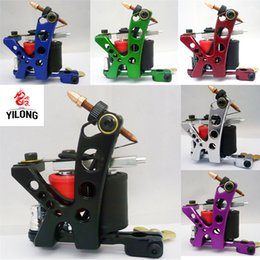 2019 machine de coulée d'acier Professional Casting Iron Tattoo Machine 10 Wraps Bobine En Acier Inoxydable Tatouages ​​Body Art Gun Maquillage Outil 6 Couleur 1110488 promotion machine de coulée d'acier