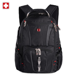 "Wholesale Swiss Army Backpacks - Wholesale- Hot Sale Swiss Army 15.6"" Laptop Backpack Men's Backpack Multifunctional Schoolbag For Teen Boys sac a dos backpack male"
