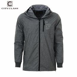 Wholesale Class Clothing - Wholesale- City Class 2017 New Spring Summer Windbreaker Mens Jackets And Coats Hooded Casual Fashion Multi Color Trench Clothing 3965
