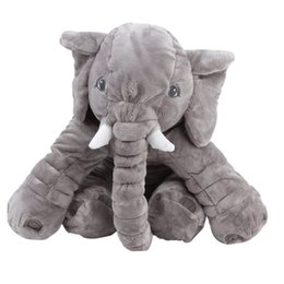 Wholesale Super Large Teddy Bear - 1Pcs Large Plush Elephant Toy Elephant Shape Plush PP Cotton Stuffed Pillow Super Soft Doll Cushion for Kids Children K5BO