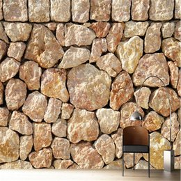 Wholesale Paint Rock Wall - Wholesale- Custom photo wallpaper Large living room hotel mural head rock background bar cafe Modern painting 3d wall murals wall paper