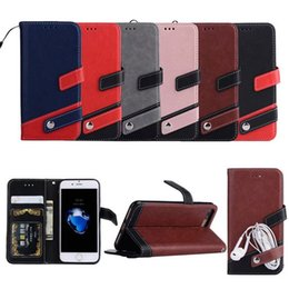 Wholesale Wholesale Leather Books - colorful wallet multi function book button flip leather case cover skin for iPhone 5 iPhone 6 6 Plus 7 Plus luxury case