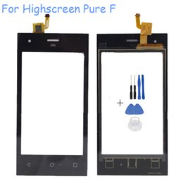 Wholesale Touch Screen Phone Replacement Glass - Wholesale- 4.0'' Touchscreen Sensor For Highscreen Pure F Cell Phone Touch Screen Digitizer Front Glass Panel Sensor Replacement With Tool