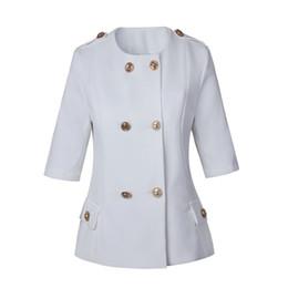 Wholesale Ladies Half Jackets - new with label and tag Brand BTop Quality Original Design Women's Ladies Females half sleeve jacket Blazer outwear Metal Buckle