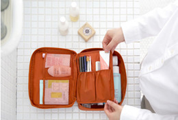 Wholesale Travel Cosmetic Cases Women - Travel Make Up Bag Case Women Makeup Bag Hanging Toiletries Travel Kit Jewelry Organizer Cosmetic Case High quality DHL free