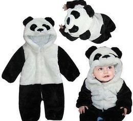 Wholesale Kids Onesie Pajama - cosplay costume halloween Baby Animal Costume Onesie Cute Climbing Pajama Romper Jumpsuit Coverall Lovely Panda Rompers for Kids