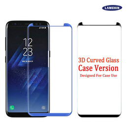 Wholesale good screen protectors - Case Friendly Scaled Down 3D Curved Tempered Glass For Samsung Galaxy S8 Samsung S8 Plus Screen Protector With Very Good Retail Box