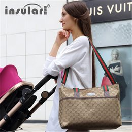 Wholesale Mother Baby Care - Wholesale- Diaper stroller bag organizer baby nappy changing bags tote mummy fashion multifunctional mother handbag Pram Baby Throne care