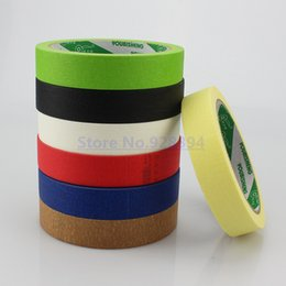 Wholesale Color Masking Tape - Wholesale- 2016 5Rolls 2cmx25M Crepe Paper Masking Tape Good For Car Painting Wall Painting Drawing Decoration Painting Choose Color