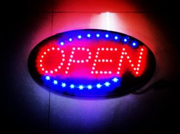 "Wholesale Wholesale Led Light Bar Brands - Brand New led open sign shiny oval 19""x10"" LED Neon Light Animated Motion Open Business Sign for shop,bar,restaurant"