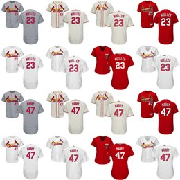 Wholesale 2017 Mens Womens Youth St Louis Cardinals Bill Mueller John Mabry Ivory Grey White Red Cheap Cool Flex Base Baseball Jerseys