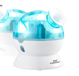 Wholesale Ion Facial Steamer - Home Blue ELF Cold Nano Ion Mist Sprayer Facial Moisture Steamer For Dry Acne Skin Moisturizing Hydrating Firming Free Shipping
