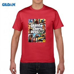 Wholesale Grand Theft Auto Gta - Grand Theft Auto GTA T Shirt Men Street Long with GTA 5 T-shirt Men Famous Brand TShirts in Cotton Tees for Couples GTA5