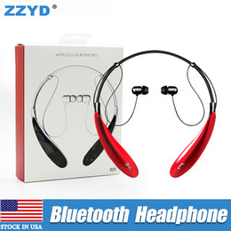Wholesale Handfree Stereo - ZZYD HBS800 Wireless Bluetooth Headphone hbs 800 Sport Stereo Neckbands Handfree earphone For Samsung S8 HTC without logo With retail Box