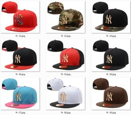 Wholesale Snap Backs Metal - 52 Style Adjustable Men Women New York Yankees Snapbacks Hip Hop Hats Sports Casual Snap Back Baseball Hat Metal Letter NY Embroidery Hat