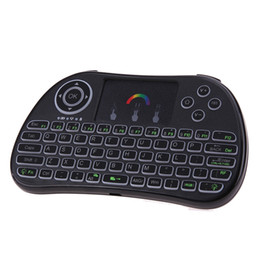 Wholesale Smart Tv Andriod - 7 Colors Backlit I86 Remote Control 2.4G Wireless Portable Mini Keyboard TZ P9 Touchpad Air Mouse for S905X Andriod Smart TV Box