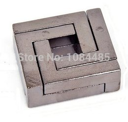 Wholesale Metal Mind Teasers - Wholesale- Classic IQ Cast Mind Brain Teaser Metal Puzzle for Adults