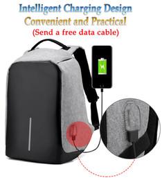 Wholesale Multifunctional Backpack Male - landyhouse Unisex Multifunctional External USB Charging Anti Theft Backpack Mens Oxford 16inch Laptop Bag Male Travel Mochila