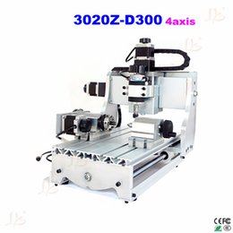 Wholesale Dc Spindle Cnc - 4axis router cnc 3020Z-D300 with 300W DC spindle include tax to Russia