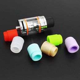 Wholesale Disposable Tanks - TFV8 Silicone Tips TFV12 Mouthpiece Silicon Drip Tip Disposable wide bore drip tips Silicone Rubber Tester Testing tips for Big Mouth Tank
