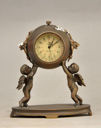 Wholesale Dance Clock - 4.72 inch   Decorative old brass sculpture can use mechanical clock angel child