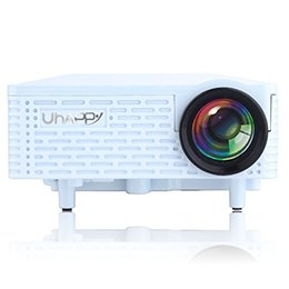Wholesale Vga Input Pc - Wholesale- UHAPPY U18 Multimedia Mini Portable HD LED Projector Micro Home Theater Projector, Support PC Laptop HDMI VGA Input and SD + USB