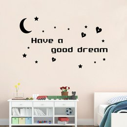 Wholesale Dream Sat - Have a good dream English proverbs wall posters sitting room bedroom decorative stickers waterproof PVC can be removed wall stickers