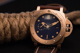 Wholesale Submersible Watch Man - The latest model 47mm real BRONZE automatic men watch 1950 SUBMERSIBLE wristwatch pam00671 pam671 pam 00671 Automatic Mens Watch Watches