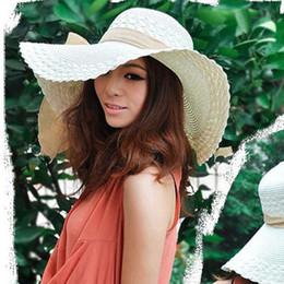 schwarze eimer hüte großhandel Rabatt 7 Farben, breiter breiter Diskettenrand Sommer Strand Sun Straw Strand Derby Hut Cap flexibel