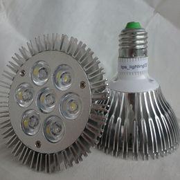 Wholesale High Power E27 21w - CREE PAR30 Led Lights High Power 21W E27 par30 led Led Bulbs Lights With Cooling Fan AC 110-240V warm white cool white + Warranty 5 Years
