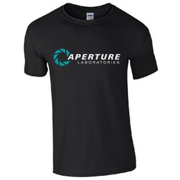 Wholesale Inspire Man - Black Style Men'S Fashion Crew Neck Aperture Laboratories Portal Labs Inspired Gamers Top Short-Sleeve T Shirts