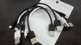 Cable USB Corto Cable Micro USB Cable USB Cable de carga de sincronización de datos del teléfono celular 8 pulgadas (20 cm) para el sistema Android BlackWhite desde fabricantes