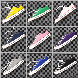 Wholesale Hot Selling Gifts - HOT sell New 14 Color All Size 35-46 Low Style sports stars chuck Classic Canvas Shoe Sneakers Men's Women's Canvas Shoes XMAS gift