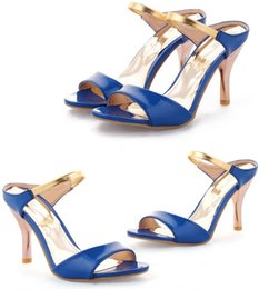 Wholesale Factory Leather Band - 2017 free shipping hot seller NightClub factory price high heel sexy stiletto Shaped with heel sexy women sandals298