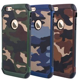 Wholesale Camo Iphone Hard Case Wholesale - New Army Camo Camouflage Pattern Case TPU+PC 2 in1 Armor Hard Leather Back Cover for Apple Iphone 7 6s plus Samsung Galaxy S8 plus 6 S7 edge