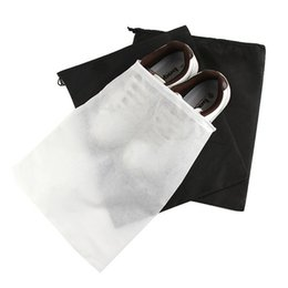 Wholesale Eco Friendly Non Woven Supreme Shoes Storage Bags Travel Storage Dust Proof Tote Dust Cases Black White Pouch Tote Bag Dust Proof