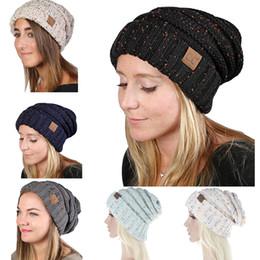Wholesale Ce Hat - 2018 Winter Women Knit Hats Girls Woolen Beanie Maternity CC Hats Women's Knitted Warm Caps Crochet Hat