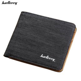Wholesale Interior Design Simple - Wholesale- Man Canvas Mens Wallets Top Quality Wallet Card Holder Multi Pockets Credit Cards Purse For Male Simple Design Brand Purses