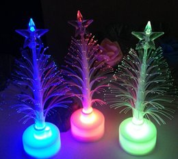 Wholesale Color Changing Christmas Trees - New Arrival Merry Christmas Xmas Tree Color Changing LED Light Lamp Home Party Wedding Decoration Light