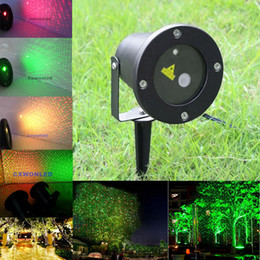 Wholesale christmas laser stage - LED Laser Lawn Firefly Stage Lights Landscape Red Green Projector Christmas Garden Sky Star Lawn Lamps with remote By DHL