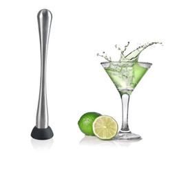 Wholesale Breaks Bar - Stainless Steel Swizzle Stick Cocktail Bar Broken Popsicle Lemon Drink Wine Juice Stirring Rod Stick Bar Ice Tool OOA3278