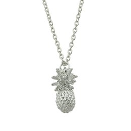 Wholesale Minimalist Jewelry - Fashion Jewelry Minimalist Style Silver Color Long Link Chain Pineapple Shape Pendant Necklace For Women Accessories