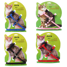 Wholesale Nylon Rope Free Shipping - Small Dog Pet Puppy Cat Adjustable Nylon Harness with Lead leash Traction rope Shipping Free 170312